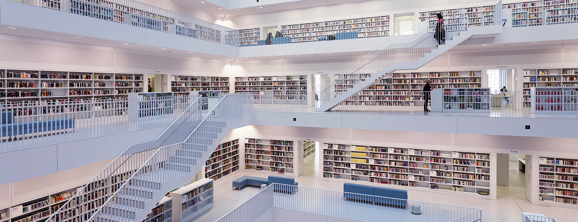 1160-2354 ( Markus Lange ) - Interior view, New Public Library, Mailaender Platz Square, Architect Prof. Eun Young Yi, Stuttgart, Baden Wurttemberg, Germay, Europe